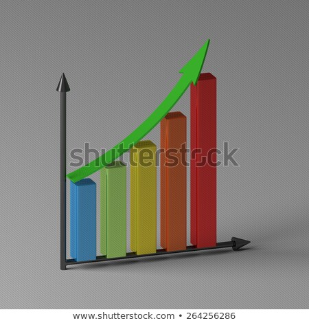 Staafdiagram tonen groei 3D geld Stockfoto © Elnur