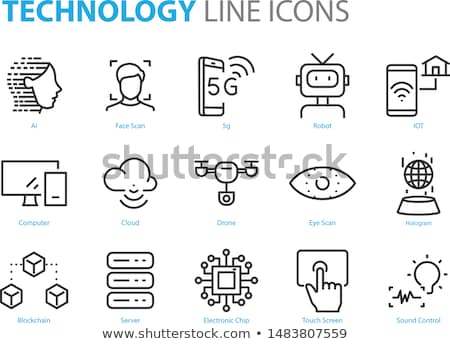 Blocking Technology Icons Set Vector Illustration Stock photo © robuart