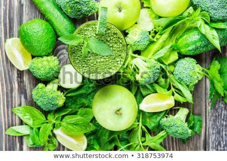 smoothie · vert · herbes · fraîches · vert · légumes · smoothie - photo stock © homydesign