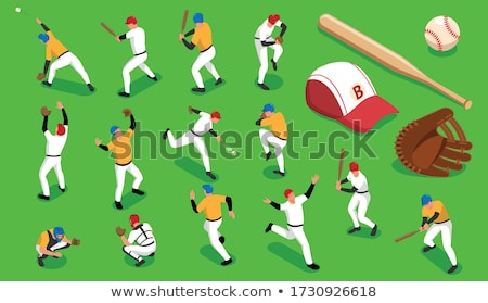 Béisbol estadio icono color diseno hierba Foto stock © angelp