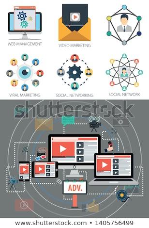 video marketing social network communication stock photo © jossdiim