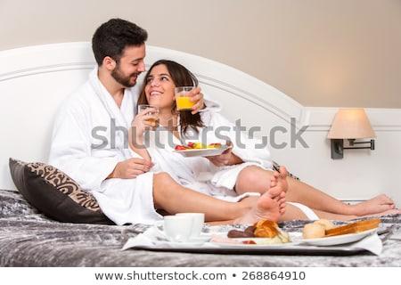 Portrait jeunes couple détente ensemble personnes Photo stock © majdansky