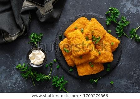 kip · ketchup · voedsel · borst · diner - stockfoto © tycoon