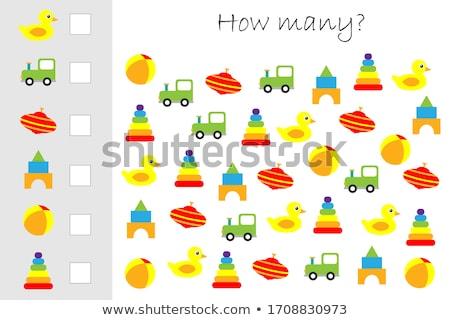 Sok oktatási feladat rajz illusztráció gyerekek Stock fotó © izakowski