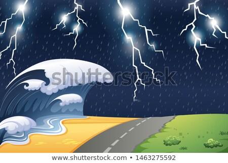 Stormy weather in natre scene Stock photo © bluering