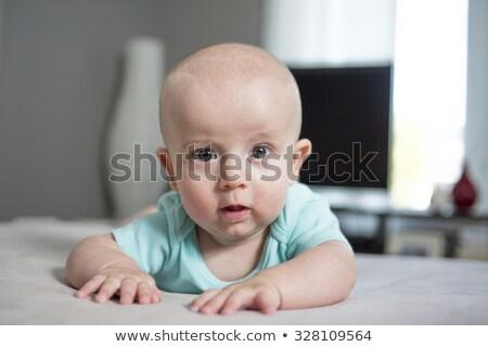 Cuatro mes edad bebé nino Foto stock © Lopolo