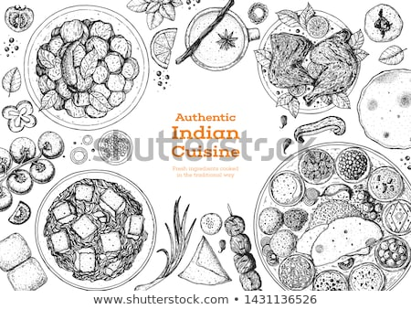 Asian cuisine vector illustration. Stock photo © yopixart