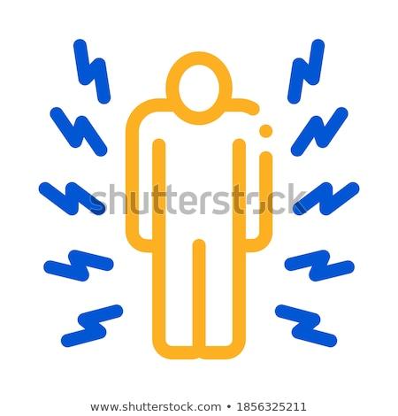 Geheel lichaam pijn icon vector schets Stockfoto © pikepicture