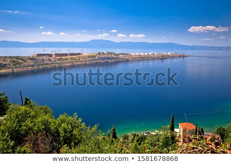 LNG terminal on Krk island and Omisalj Pesja bay view Stock photo © xbrchx