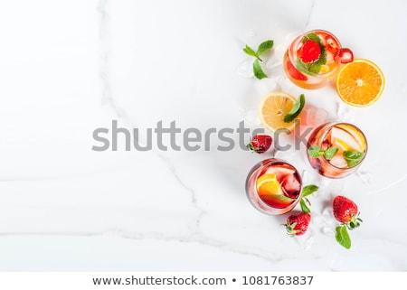 Ayarlamak farklı yaz kokteyller meyve suyu şarap Stok fotoğraf © furmanphoto