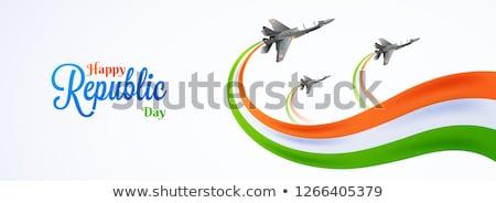 Felice repubblica giorno India ondulato onda Foto d'archivio © SArts