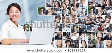 Call Center Support Workers Collage Stock photo © AndreyPopov
