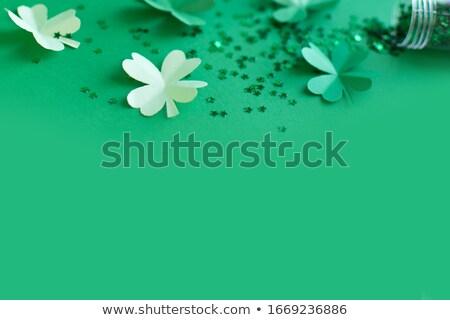 Vacanze carta foglia creativo verde Foto d'archivio © artjazz
