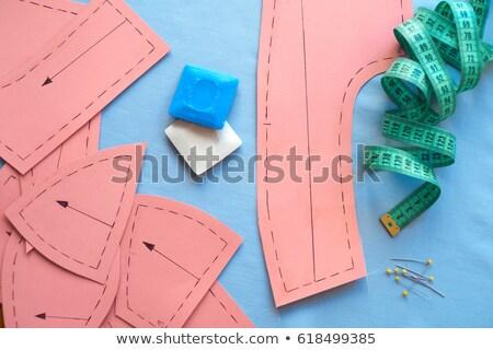 Stoff Muster Nähen unkenntlich Frau Stock foto © pressmaster