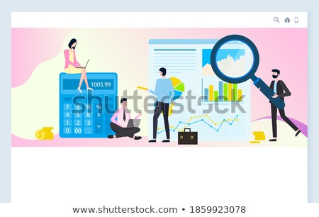 Financiële analyse persoon tool vector zakenman Stockfoto © robuart