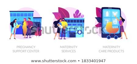 Zwangerschap moederschap vector metaforen zwangere vrouw gezondheidszorg Stockfoto © RAStudio