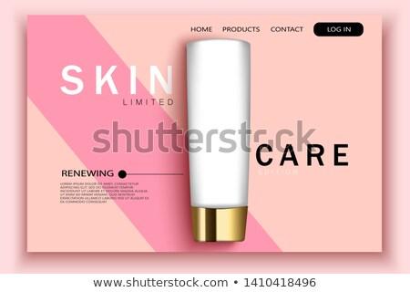 Imballaggio design atterraggio pagina strategia di marketing promo Foto d'archivio © RAStudio