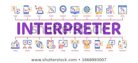 Interpreter Translator Minimal Infographic Banner Vector Stock photo © pikepicture