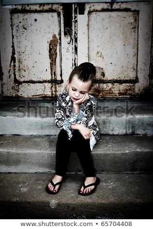 Scène mensen drugs illustratie vrouw man Stockfoto © bluering