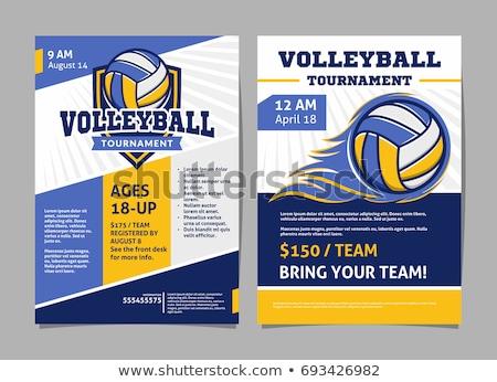 Voleibol esportes competição folheto cartaz vetor Foto stock © pikepicture