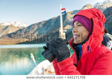 Toeristische vrouw avontuur reizen buitenshuis vakantie Stockfoto © Maridav