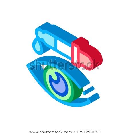 Eye Medicine Dropper Pipette isometric icon vector illustration Stock photo © pikepicture