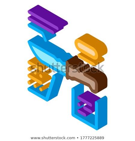 Cuchillo descripción icono vector signo Foto stock © pikepicture