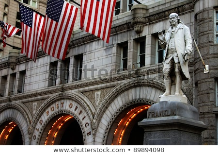 Statue Ben Franklin Old Post Office Building Washington DC Stock photo © Qingwa
