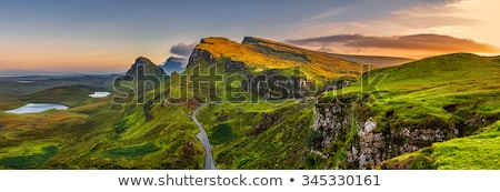 quiraing landscape with road stock photo © hofmeester