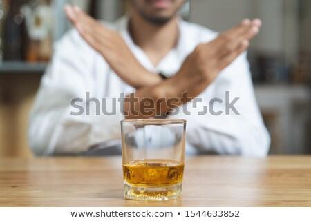 durdurmak · alkolizm · el · şişe · adam · cam - stok fotoğraf © ozaiachin