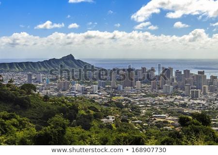 Downtown Waikiki seen from Diamond Head Stock photo © backyardproductions