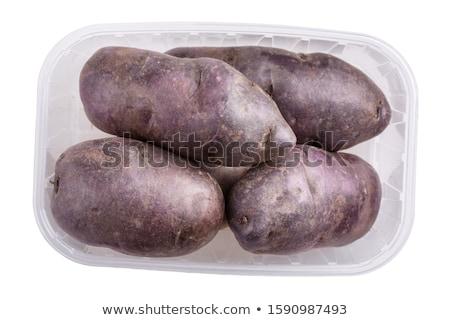 ruw · Rood · dienblad · aardappel · geïsoleerd - stockfoto © elly_l