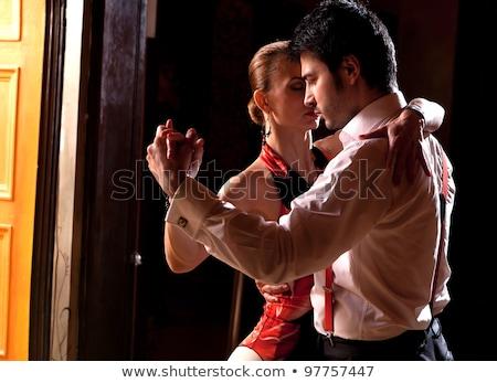 Tangó tánc pár barna lila zene Stock fotó © DeCe