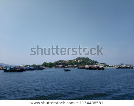 Cheung Chau sea view in Hong Kong, with fishing boats as backgro Stock photo © kawing921