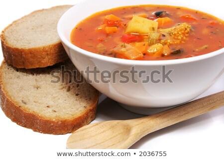 País sopa de legumes alface decorado salsa Foto stock © zhekos
