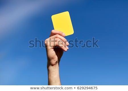 vreemd · handen · Blauw · karton · hand · gat - stockfoto © stocksnapper