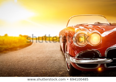 классический Auto один белый автомобилей Сток-фото © perysty