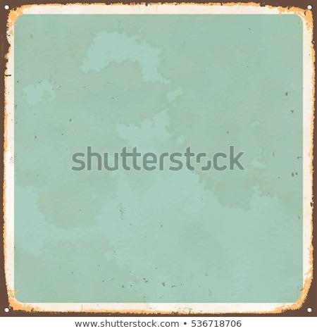 Velho assinar mensagem vintage enferrujado Foto stock © klikk