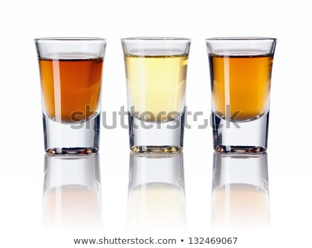 conjunto · vazio · coquetel · óculos · isolado · branco - foto stock © karandaev