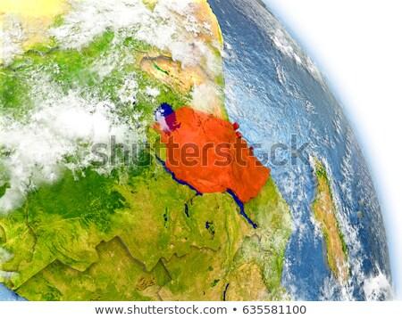 Mapa cores Tanzânia ilustração bandeira arte Foto stock © perysty
