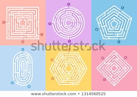 Labirintus megállapítás kijárat fal kérdés elveszett Stock fotó © idesign