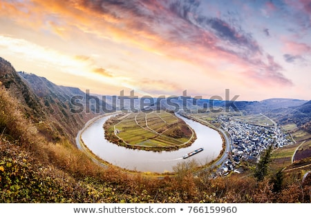 small city at river Moselle Stock photo © prill