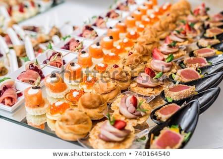 Arrangement of Appetizers Stock photo © zhekos