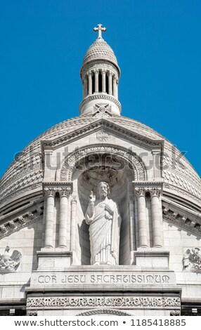 Vue design église bleu pierre culte Photo stock © danielgilbey