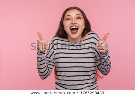 женщину · удвоится · Постоянный · белый - Сток-фото © stockyimages