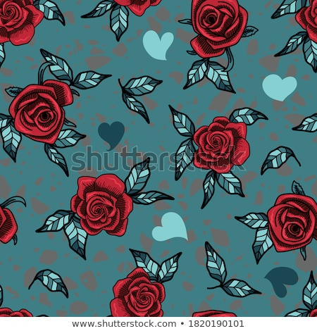 gothic heart and rose  Stock photo © creative_stock