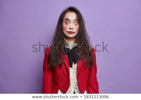 nice · ragazza · indossare · diavolo · costume · sexy - foto d'archivio © acidgrey