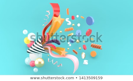 colored party and birthday buttons stock photo © djdarkflower