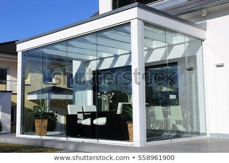 солярий саду домой внешний стекла цветы Сток-фото © elenaphoto