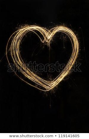 Golf hart sterretje partij liefde gelukkig Stockfoto © Paha_L